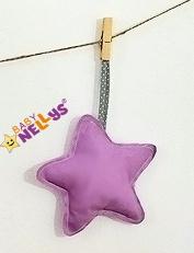 Dekorace Be love Hvězdička - fialová