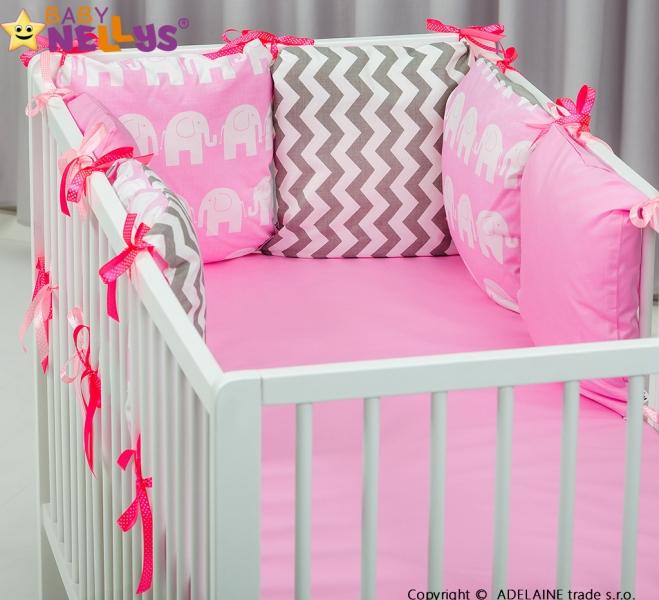 Mantinel BE LOVE Baby Nellys ® - polštářkový s povlečením vzor č. 1036