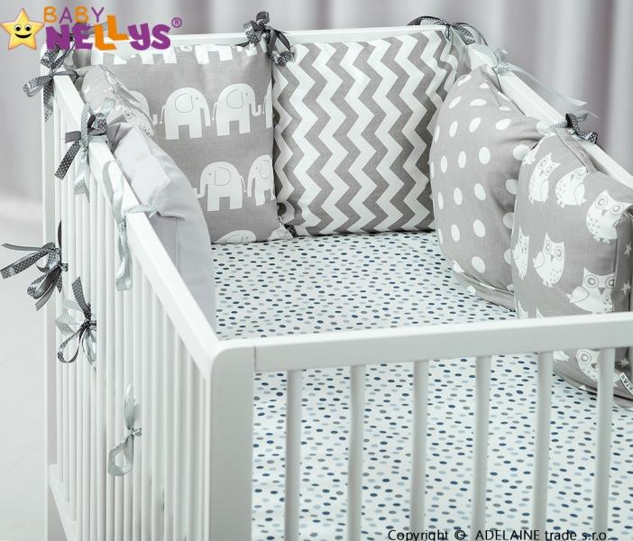 Mantinel BE LOVE Baby Nellys ® - polštářkový s povlečením vzor č. 1025