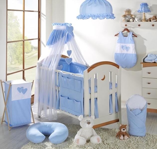 Luxusní mega set s výšivkou Š - Srdíčko modré
