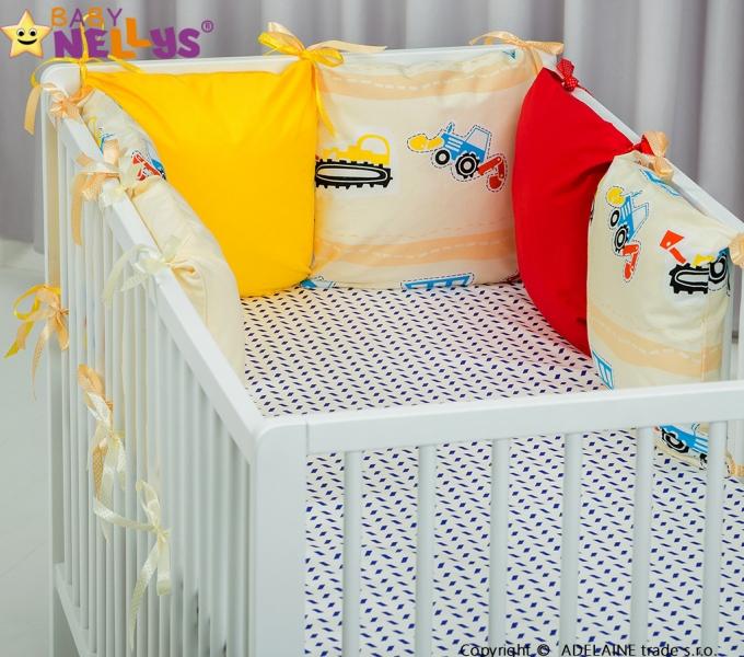 Mantinel BE LOVE Baby Nellys ® - polštářkový s povlečením vzor č. 1016