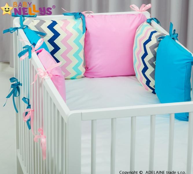 Mantinel BE LOVE Baby Nellys ® - polštářkový s povlečením vzor č. 1035