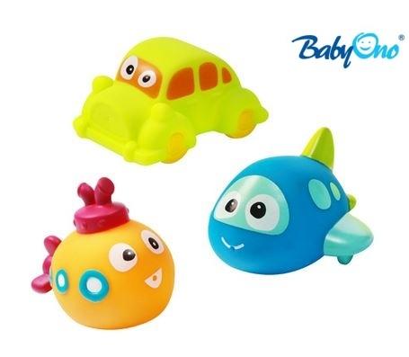 Baby Ono Veselé hračky do vody DOPRAVNÍ PROSTŘEDKY - 3m+ - nr. kat. 531 - DOPRAVNÍ PROSTŘEDKY - 3ks v balení, BO