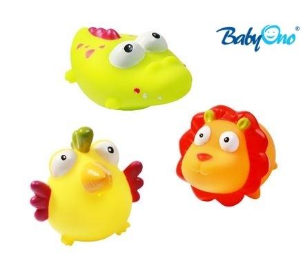 Baby Ono Veselé hračky do vody DŽUNGLE - 3m+ - nr. kat. 531 - DŽUNGLE - 3ks v balení, BO