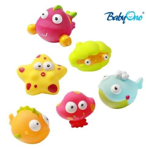 Baby Ono Veselé hračky do vody OCEÁN/MOŘE - 3m+ - nr. kat. 532 - OCEÁN/MOŘE - 6ks v balení, BO