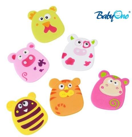 Baby Ono Veselé hračky do vody - přísavky - sada HOLKA - nr. kat. 533, HOLKA , 6ks v balení, od 36-ti měsíců, BO