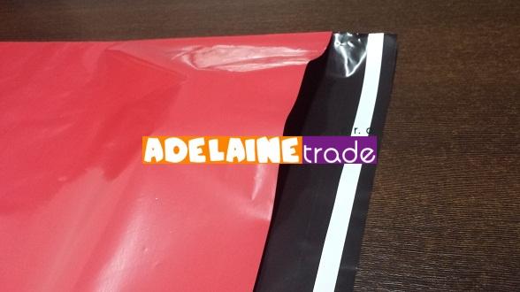 Plastová obálka - 32,5 x 45 +5 cm - ČERVENÁ - balení 100ks, Rozměr 32,5 x 45 +5 cm - červená KF (CZ) 04