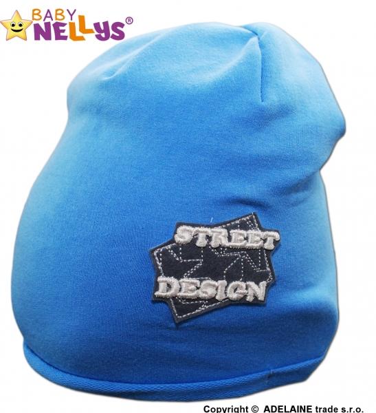Bavlněná čepička Street Baby Nellys ® - modrá