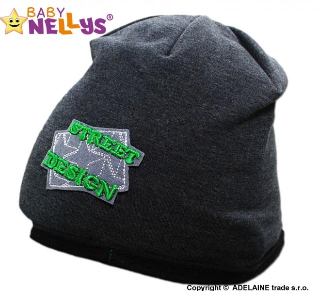Bavlněná čepička Street Baby Nellys ® - grafit