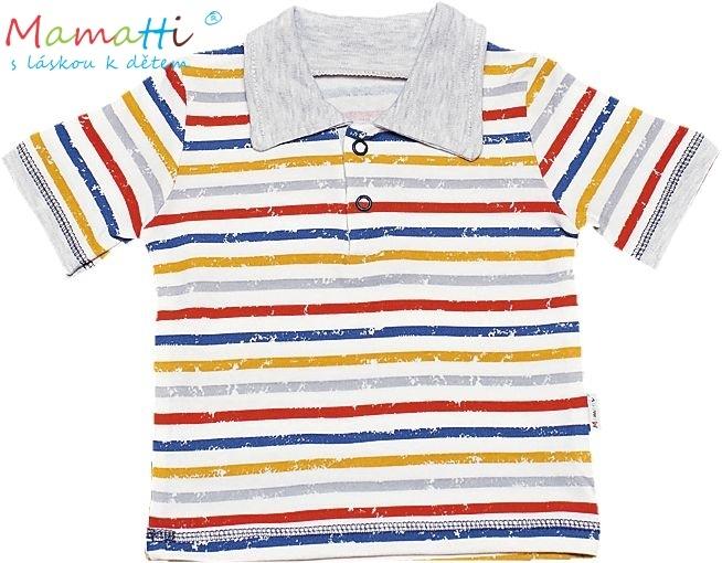 Polo tričko kr.rukáv Mamatti - Drak, Velikost: 68 (4-6m)