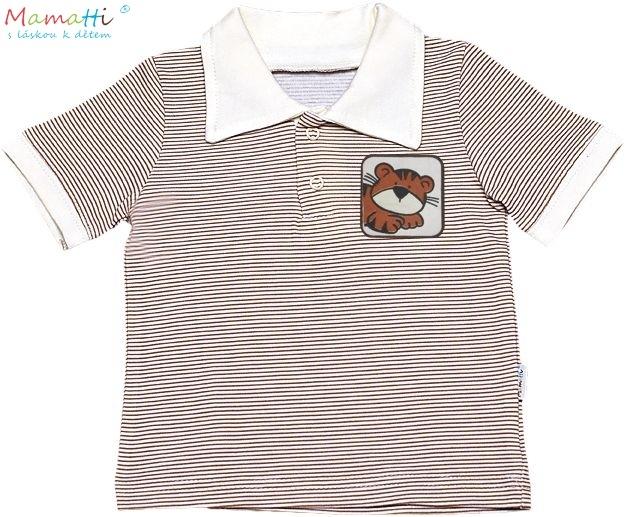 Polo tričko kr.rukáv Mamatti - Lvíček, Velikost: 68 (4-6m)