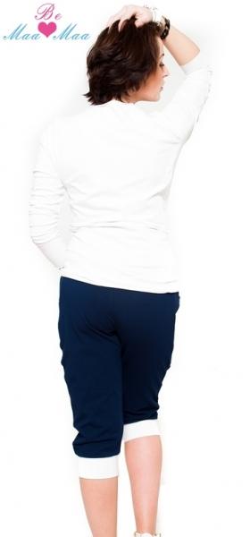 Be MaaMaa Sportovní, elegantní 3/4 kalhoty Tessi - grantové