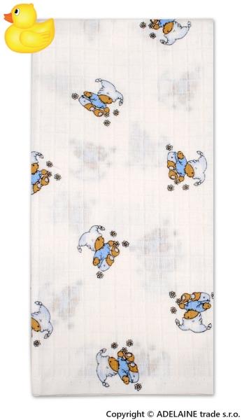 Tetrová bavlněná plenka 70x70 - Kašpárek modrý - 1ks