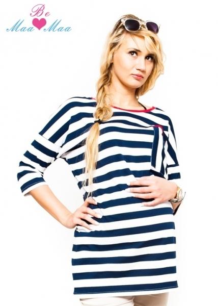 Těhotenská tunika, triko APOLENA - pruhovaná