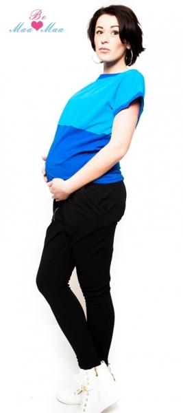 Těhotenské trubkové tepláky Be MaaMaa - černé