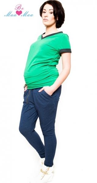 Těhotenské trubkové tepláky Be MaaMaa - granát