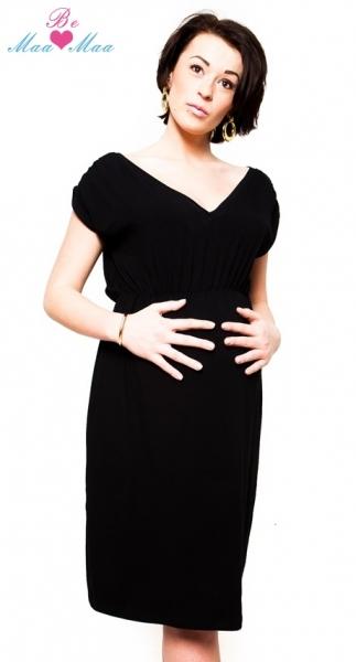 Těhotenské šaty Be MaaMaa - Kim - černé