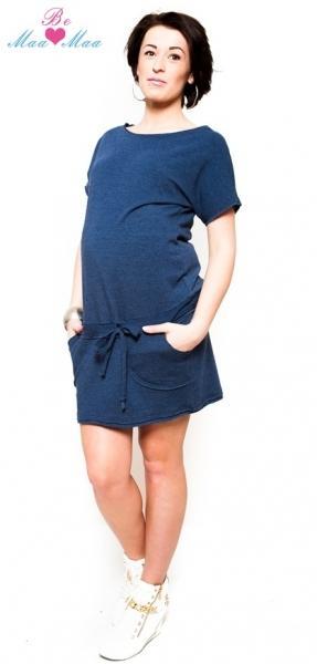 Těhotenské šaty Be MaaMaa - ESTELLE - jeans