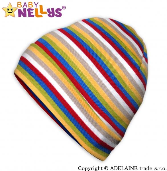 Bavlněná čepička Baby Nellys ® - Veselé barevné proužky