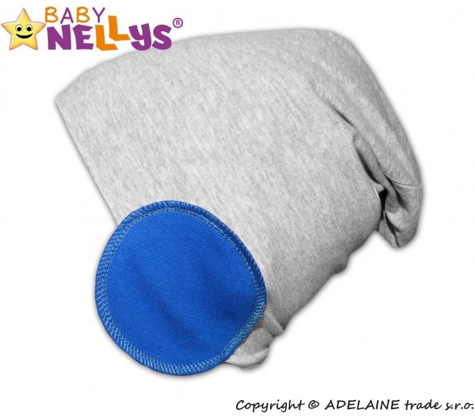 Bavlněná čepice Bubble - modrá