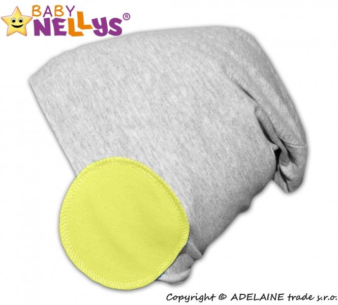 Baby Nellys Bavlněná čepice Bubble - lemon
