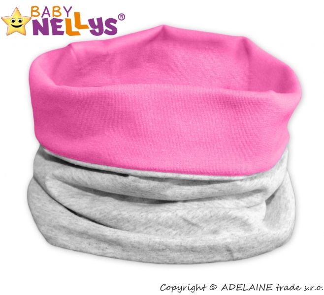 Nákrčník/komínek Baby Nellys ® Duo - růžový/šedý