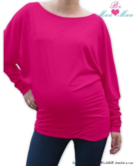 Symetrická těhotenská tunika - růžová