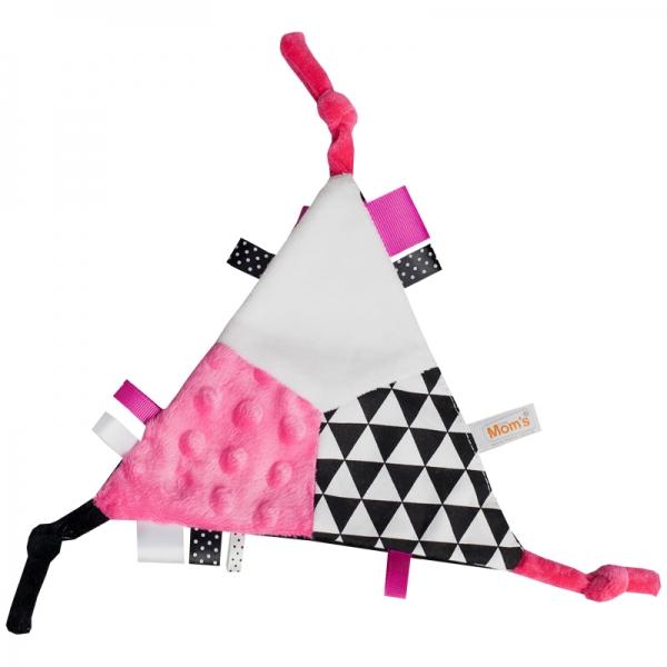 Mazlík šuštik trojúhelník - růžový