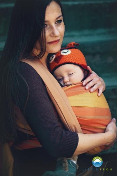 Little FROG Tkaný šátek na nošení dětí - CYTRYN