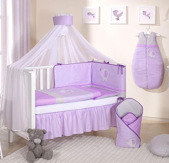 Mamo Tato Mega set s moskytiérou LUX SLON - fialový
