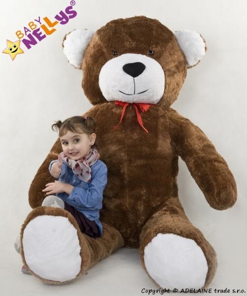 Plyšový Medvěd XXL Baby Nellys Filip - hnědý, K19