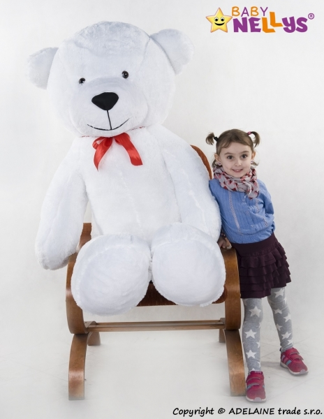 Plyšový Medvěd XXL Baby Nellys Filip - bílý, K19