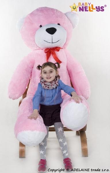 Plyšový Medvěd XXL Baby Nellys Filip - růžový, K19