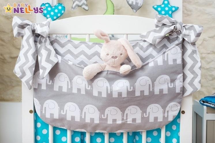 Baby Nellys Mega sada Be LOVE - Slon šedý
