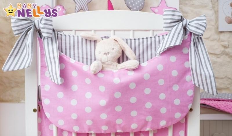 Baby Nellys Mega sada Be LOVE 135x100cm - Bubble růžové