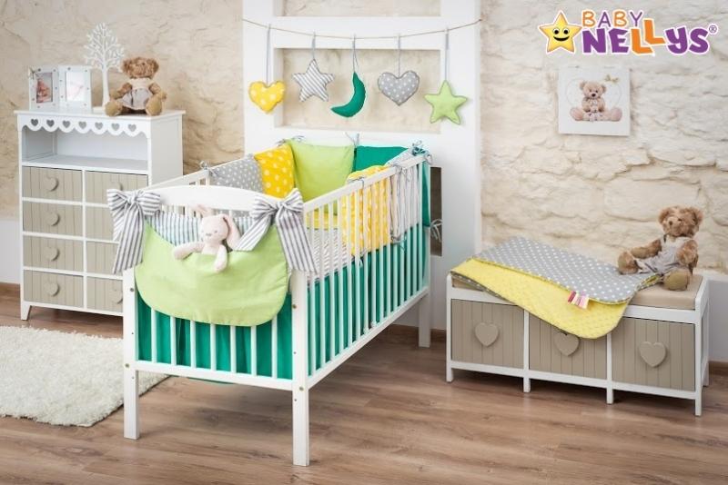 Baby Nellys Mega sada Be LOVE - Zelená/žlutá