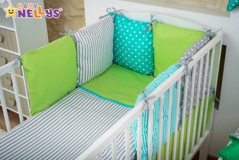 Baby Nellys Mega sada Be LOVE - Zelená/tyrkys