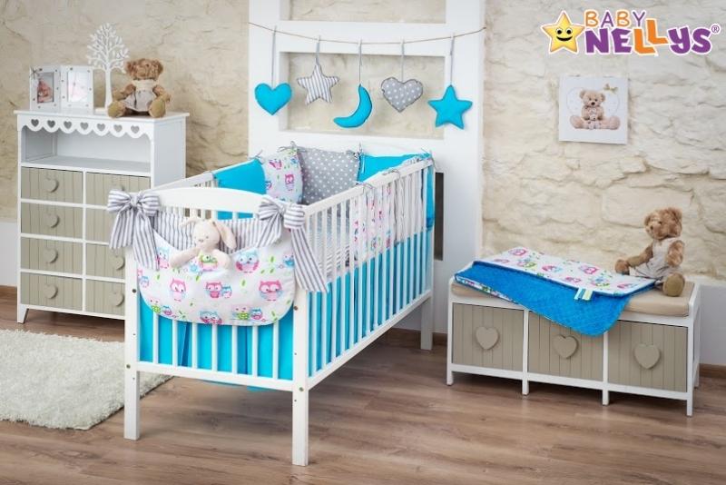 Baby Nellys Mega sada Be LOVE - Modrá/šedá - Sovičky