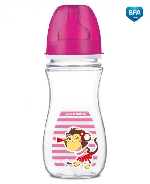 Antikoliková lahvička 300ml Canpol Babies - OPIČKA