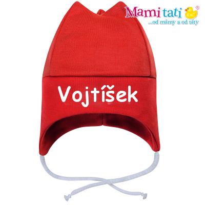 Baby Dejna Čepička s jménem na zavazování - červená