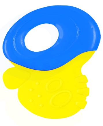 BabyOno Chrastítko, kousátko - úchyt modrý