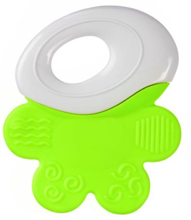 Chrastítko, kousátko Baby Ono - úchyt bílý