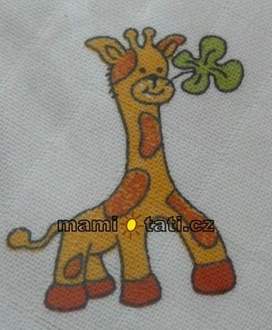 Dětská plenková osuška - Žirafka 1ks (vel: 90x100cm, vzor: Žirafa velka, VYROBENO V ČR.)