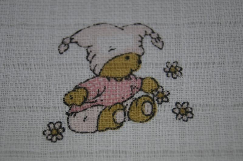 Dětská plenková osuška - Kašpárek růžový - 1ks (vel: 90x100cm, vzor: Kašpárek růžový, VYROBENO V ČR.)
