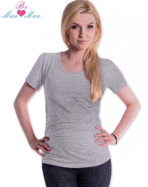 Triko JOLY bavlna nejen pro těhotné - šedý melír