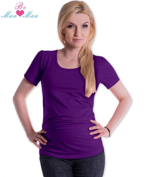 Be MaaMaa Triko JOLY bavlna nejen pro těhotné - fialové