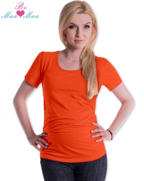 Be MaaMaa Triko JOLY bavlna nejen pro těhotné - pomerančové
