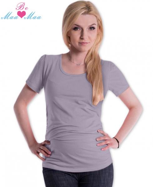 Be MaaMaa Triko JOLY bavlna nejen pro těhotné - šedé