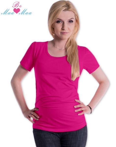Be MaaMaa Triko JOLY bavlna nejen pro těhotné - sytě růžové