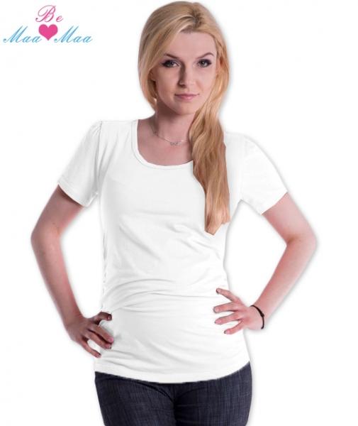Be MaaMaa Triko JOLY bavlna nejen pro těhotné - bílé